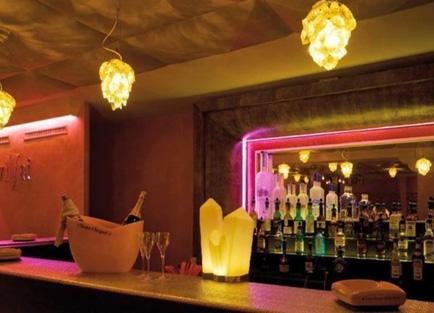 Bar in Hotel Steffani at St Moritz.