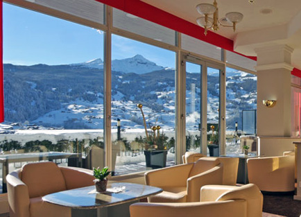 Bar in Hotel Belvedere at Grindelwald.