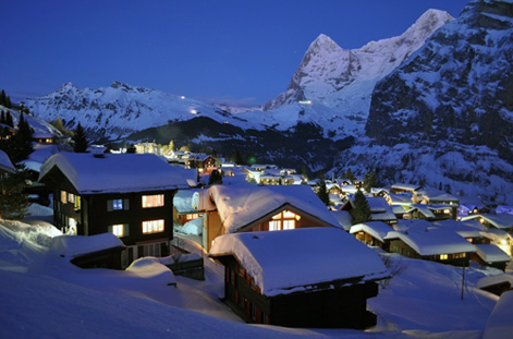 Chalets in Grindelwald.