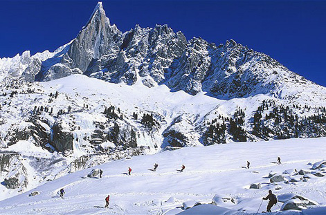 Skiing at Chamonix.