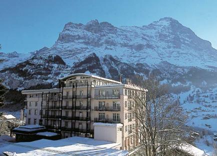 Exterior Hotel Belvedere at Grindelwald.