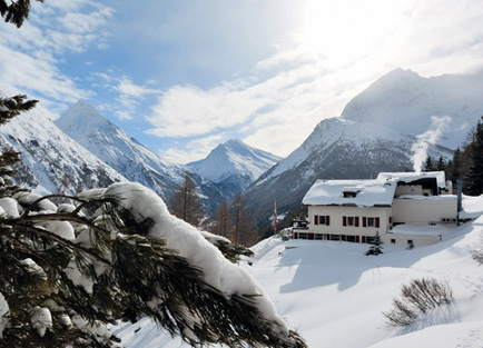 Exterior of Waldhotel Fletschhorn at Saas Fee.