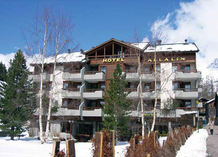 Exterior of Hotel Allalin at Saas Fee.