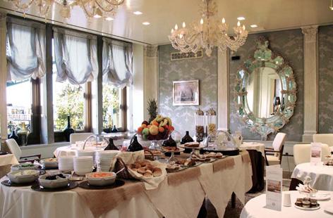 Buffet in Hotel Londra Palace, Venice.