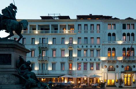 Front of Hotel Londra Palace, Venice.