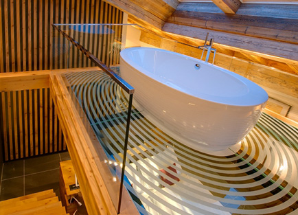 Bath in Hotel Bellerive in Zermatt.