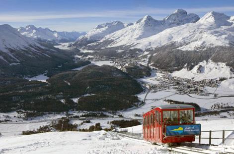 Ski lift at St Moritz.