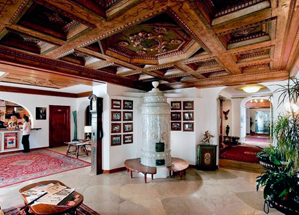 Lobby of Hotel Ancora.