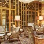 Lounge in Kulm Hotel at St Moritz.