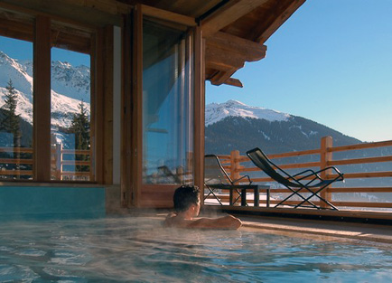Pool in Le Chalet D'Adrien at Verbier.