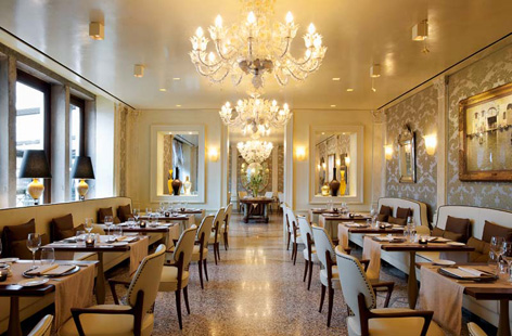 Restaurant in Hotel Londra Palace, Venice.