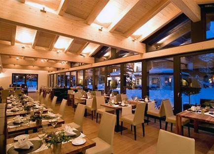 Restaurant at Hotel Mirabeau at Zermatt.