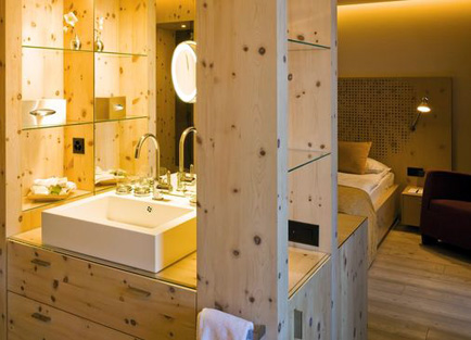 Room in Hotel Steffani at St Moritz.