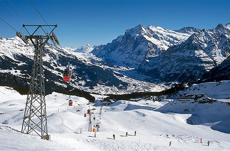Slopes at Wengen.
