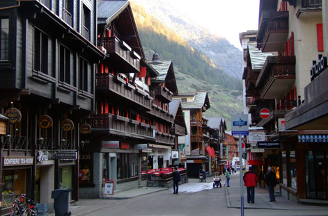Downtown Zermatt.