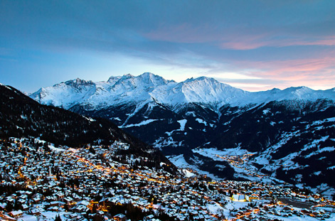 Twilight over Verbier.