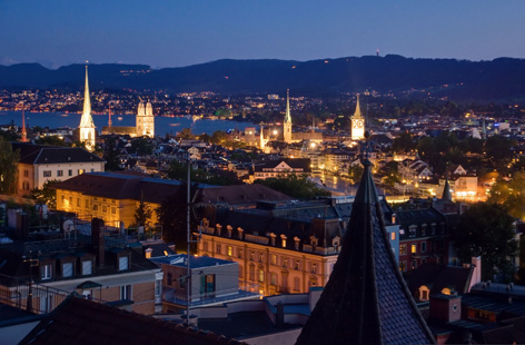 Evening in Zurich.
