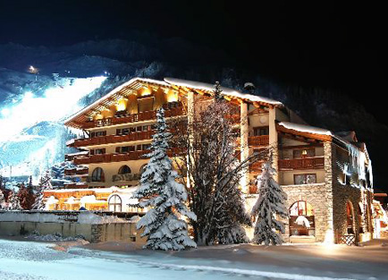 Exterior of Hotel Christiania in Val d'Isere.