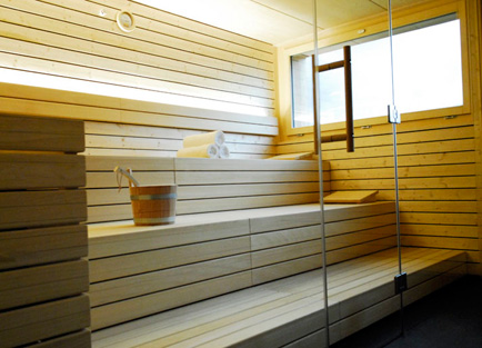 Sauna in Hotel Edelweiss in Davos.